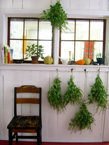 kitchen windows & tulsi
