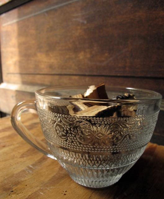 reishi in teacup far