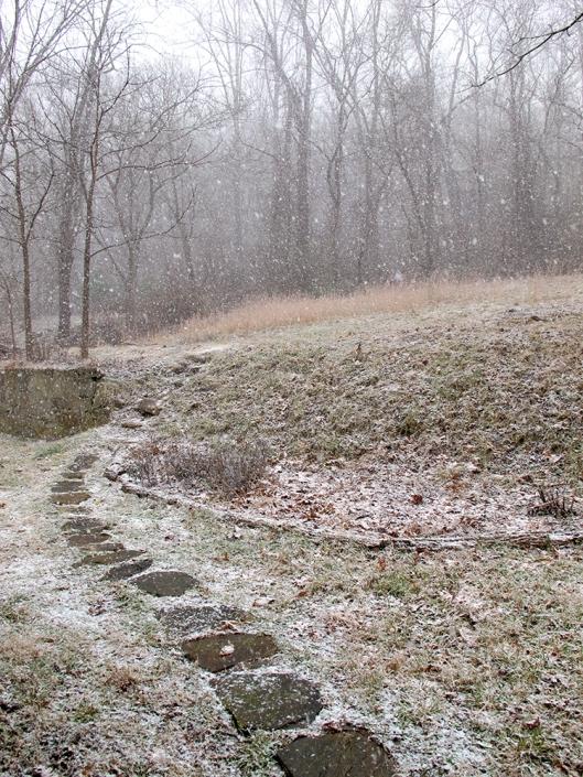 Snowglobe storm steps