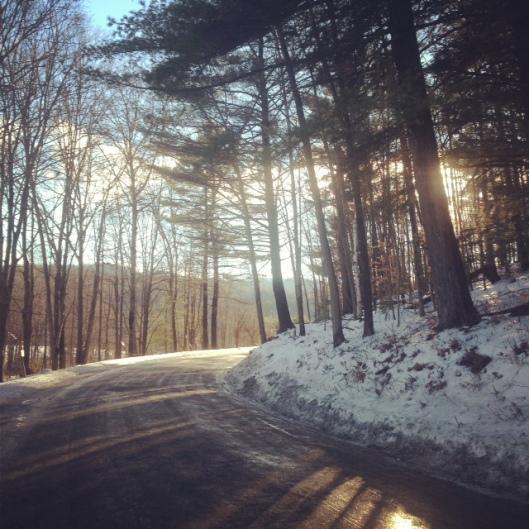 sunlit road