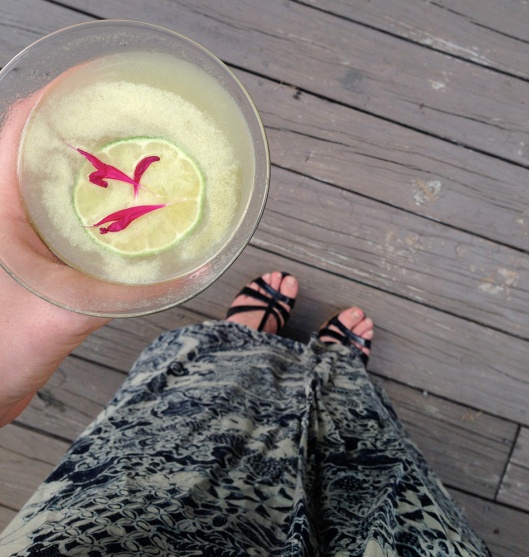 Pineapple sage tequila