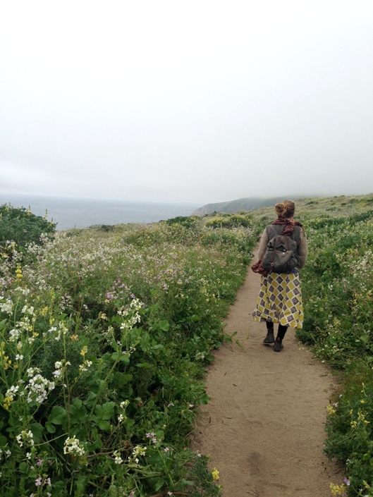Sylvia Linsteadt walking point reyes