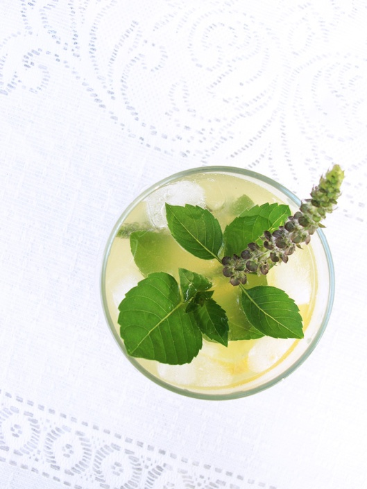Tulsi drink blue