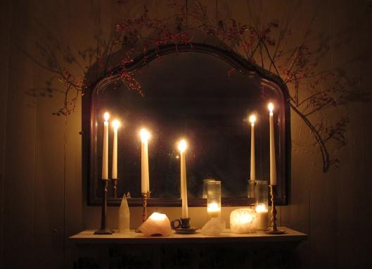 candlelit altar