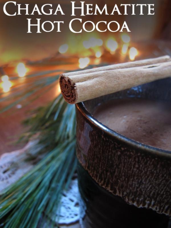Chaga Hematite hot cocoa