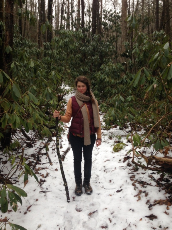 Asia on winter walk